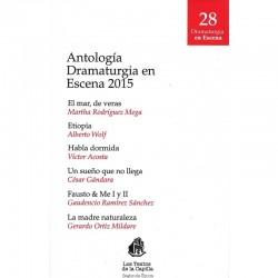Antología dramaturgia en escena 2015